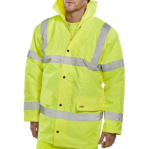BSeen High Visibility Constructor Jacket 3XL Saturn Yellow Ref CTJENGSY3XL *Approx 3 Day Leadtime*