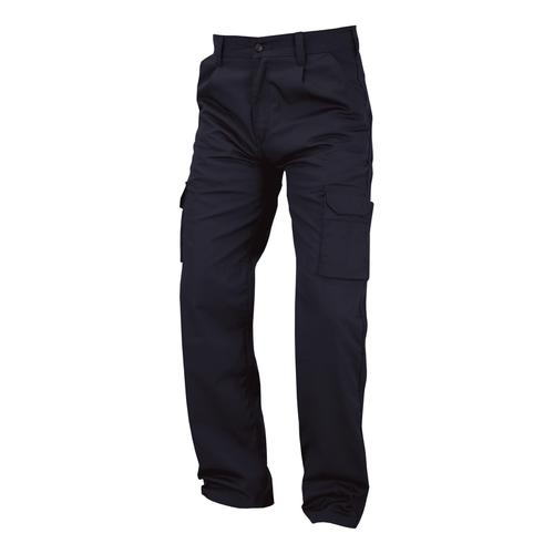 Combat Trousers Polycotton with Pockets 32in Regular Navy Blue Ref PCTHWN32 *1-3 Days Lead Time*