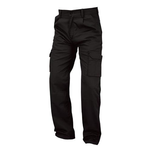 Combat Trousers Polycotton with Pockets Size 36in Long Black Ref PCTHWBL36T *1-3 Days Lead Time*