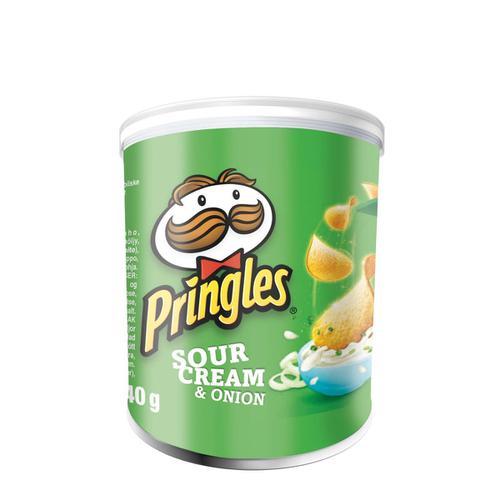 Pringles Sour Cream Onion Crisps 40g Ref N003626 [Pack 12]