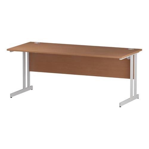 Trexus Rectangular Desk White Cantilever Leg 1800x800mm Beech Ref I001677