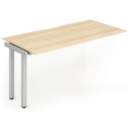 Trexus Bench Desk Single Extension Silver Leg 1400x800mm Maple Ref BE331