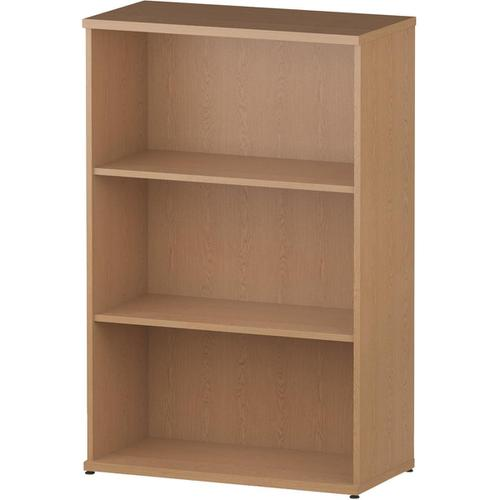 Trexus Office Medium Bookcase 800x400x1200mm 2 Shelves Oak Ref I000758