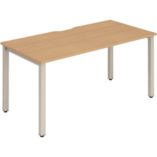 Trexus Bench Desk Individual Silver Leg 1400x800mm Beech Ref BE137