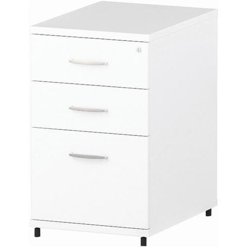 Trexus Desk High 3 Drawer 600D Pedestal 425x600x730mm White Ref I000189
