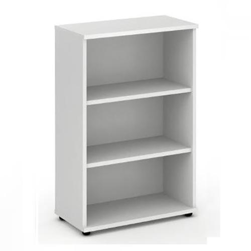 Trexus Office Medium Bookcase 800x400x1200mm 2 Shelves White Ref I000170