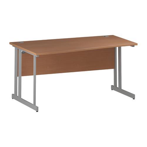 Trexus Wave Desk Left Hand Silver Cantilever Leg 1600mm Beech Ref I000289