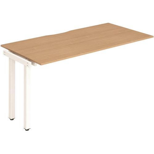 Trexus Bench Desk Single Extension White Leg 1400x800mm Beech Ref BE317