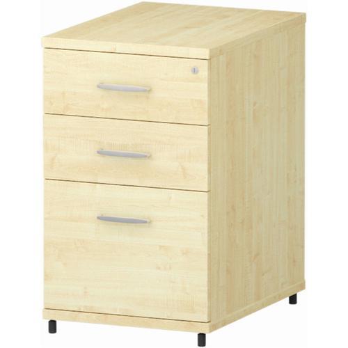 Trexus Desk High 3 Drawer 600D Pedestal 425x600x730mm Maple Ref I000249