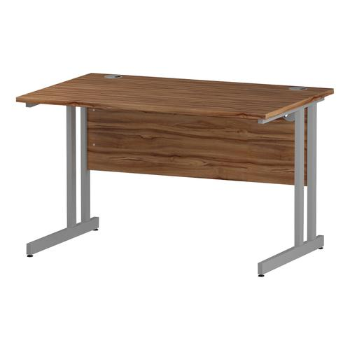 Trexus Rectangular Desk Silver Cantilever Leg 1200x800mm Walnut Ref I001900