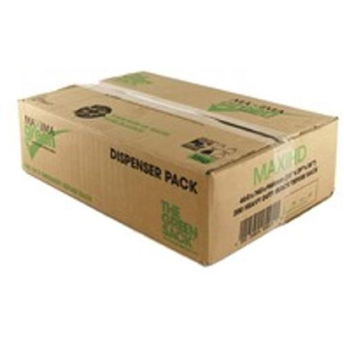 The Green Sack Refuse Sacks Heavy Duty 15kg Capacity Black Ref 703094 [Pack 200]