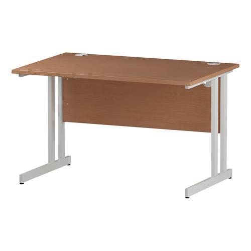 Trexus Rectangular Desk White Cantilever Leg 1200x800mm Beech Ref I001674