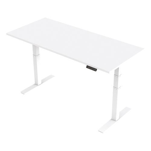 Trexus Sit Stand Desk Height-adjustable White Leg Frame 1800/800mm White Ref HA01032