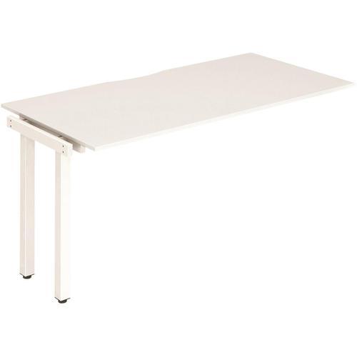 Trexus Bench Desk Single Extension White Leg 1400x800mm White Ref BE315