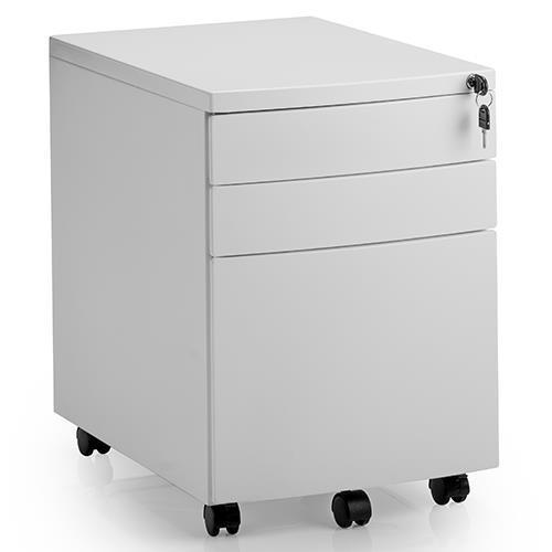 Trexus Standard Steel 3 Drawer Pedestal 390x565x558mm Silver Ref SMP2SILVER