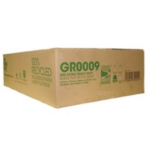 The Green Sack Refuse Sacks Extra Heavy Duty 20kg Capacity Black Ref 703113 [Pack 200]