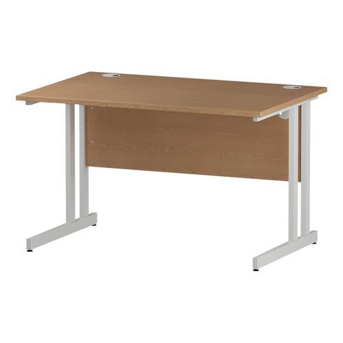 Trexus Rectangular Desk White Cantilever Leg 1200x800mm Oak Ref I002643