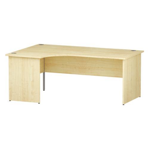 Trexus Radial Desk Left Hand Panel End Leg 1800/1200mm Maple Ref I000411