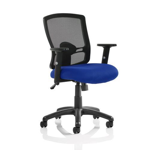 Trexus Mesh Back Armchair Blue 500x480x450-550mm Ref OP000219