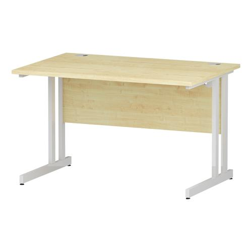 Trexus Rectangular Desk White Cantilever Leg 1200x800mm Maple Ref I002417