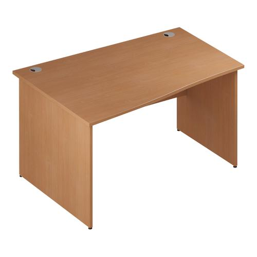 Trexus Wave Desk Left Hand Panel Leg 1400/1000mm Beech Ref I000375
