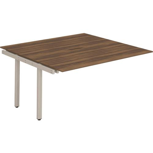 Trexus Bench Desk Double Extension Back to Back Configuration Silver Leg 1200x1600mm Walnut Ref BE219