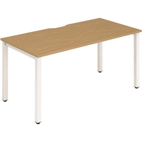 Trexus Bench Desk Individual White Leg 1400x800mm Oak Ref BE113