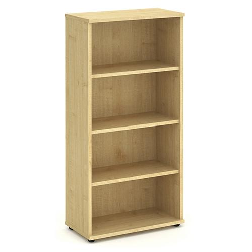 Trexus Office High Bookcase 800x400x1600mm 3 Shelves Maple Ref I000231