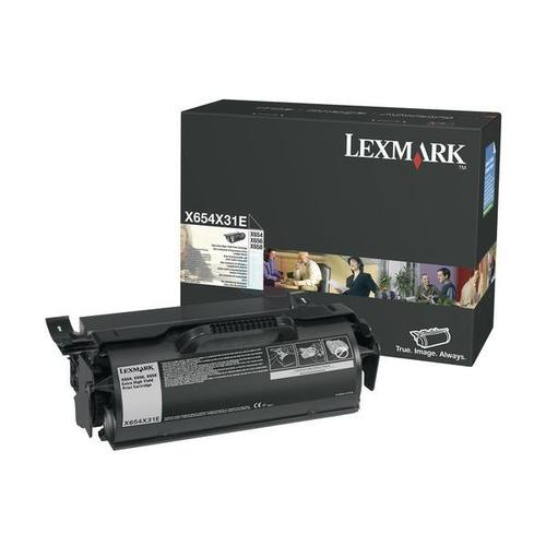 Lexmark X654 Toner Cartridge Return Programe Page Life 36000pp Black Ref X654X31E
