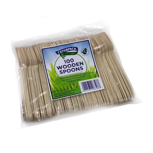 Natural Birchwood Biodegradable Spoon [Pack 100]
