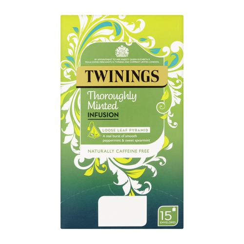 Twinings Infusion Tea Bags Individually-wrapped Minted Ref 0403366 [Pack 15]