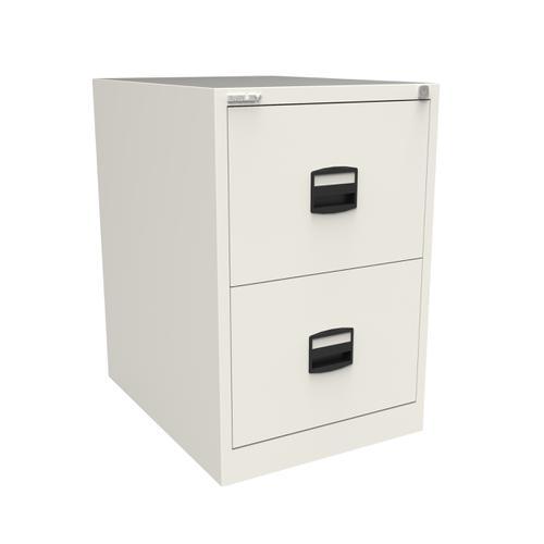 Trexus 2 Drawer Filing Cabinet 470x622x711mm Chalk White Ref CC2H1A-ab9