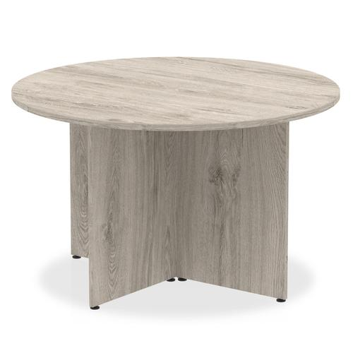 Trexus Circular Table Arrowhead 1200x1200x730mm Grey Oak