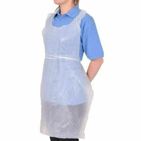 White Disposable Apron 22.5mu Roll of 100x6