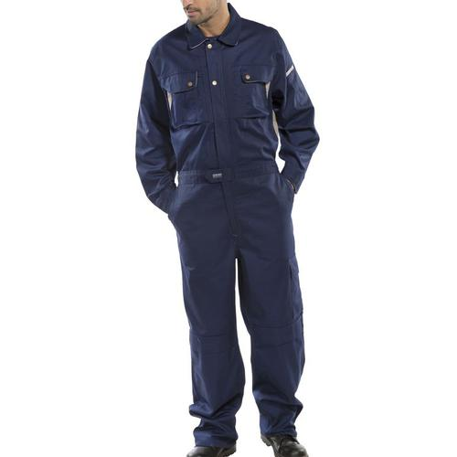Click Premium Boilersuit 250gsm Polycotton Size 54 Navy Blue Ref CPCN54 *Up to 3 Day Leadtime*