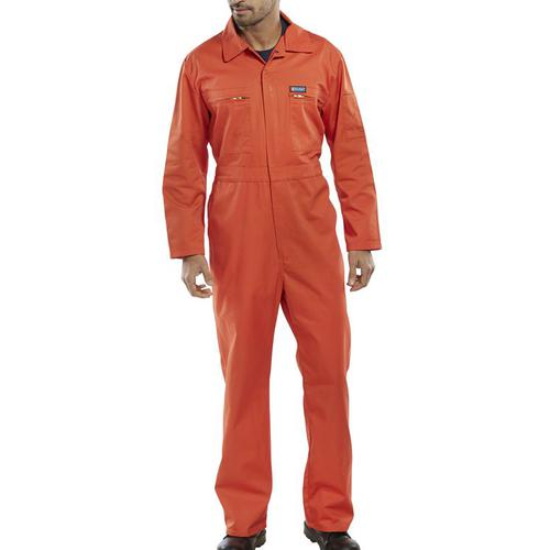 Super Click Workwear Heavy Weight Boilersuit Orange Size 42 Ref PCBSHWOR42 *Up to 3 Day Leadtime*