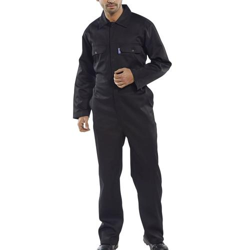 Click Workwear Regular Boilersuit Black Size 46 Ref RPCBSBL46 *Up to 3 Day Leadtime*