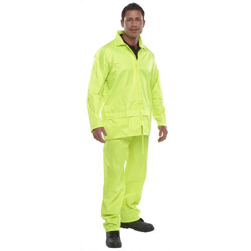 B-Dri Weatherproof Nylon B-Dri Weatherproof Suit 2XL Yellow Ref NBDSSYXXL *Up to 3 Day Leadtime*