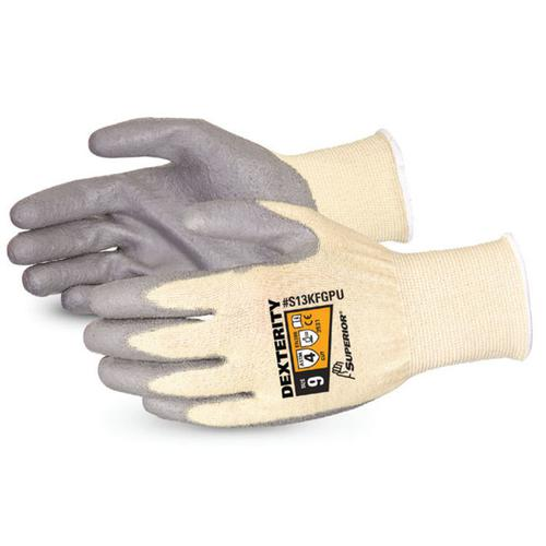 Superior Glove Dexterity PU Palm-Coated Cut-Resistant 10 Grey Ref SUS13KFGPU10 *Up to 3 Day Leadtime*
