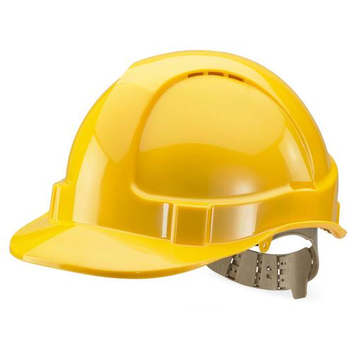 B-Brand Comfort Vented Safety Helmet Yellow Ref BBVSHY *Up to 3 Day Leadtime*