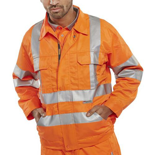 B-Seen High Visibility Railspec Jacket 38in Orange Ref RSJ38 *Up to 3 Day Leadtime*