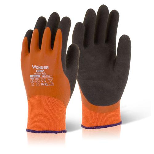 Wonder Grip Thermo Plus Glove 7 Small Orange [Pack 12] Ref WG338S *Up to 3 Day Leadtime*