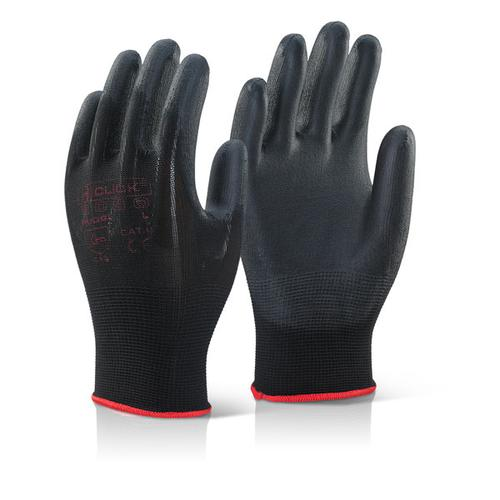 Click2000 Pu Coated Gloves Black S Ref PUGBLS [Pack 100] *Up to 3 Day Leadtime*