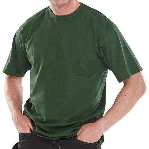 Click Workwear T-Shirt Heavyweight 180gsm 2XL Bottle Green Ref CLCTSHWBGXXL *Up to 3 Day Leadtime*