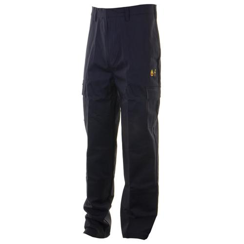 Click Fire Retardant Trousers Anti-static Cotton 48 Navy Ref CFRASTRSN48 *Up to 3 Day Leadtime*