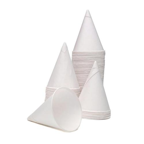 Water Cones Disposable 4oz 114ml White Ref ACPACC04 [Pack 5000]