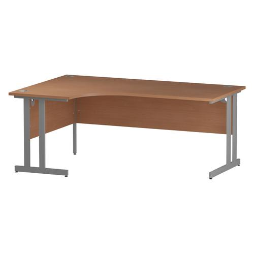 Trexus Radial Desk Left Hand Silver Cantilever Leg 1800mm Beech Ref I000301
