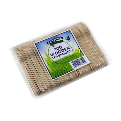 Natural Birchwood Biodegradable Teaspoon [Pack 100]