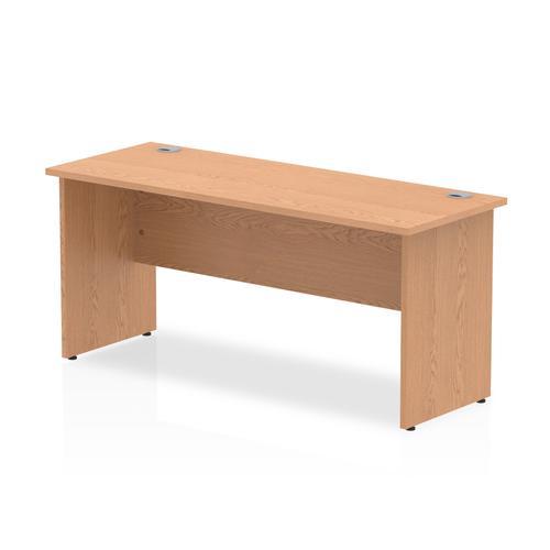 Trexus Desk Rectangle Panel End Leg 1600x600mm Oak Ref MI002700