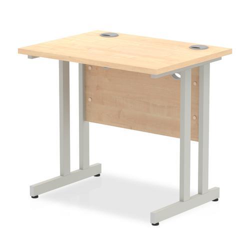 Trexus Desk Rectangle Cantilever Silver Leg 800x600mm Maple Ref MI002899